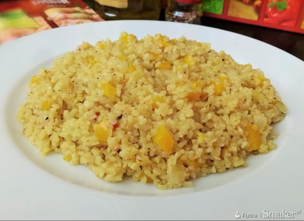 Imbirowe risotto z kaszy bulgur