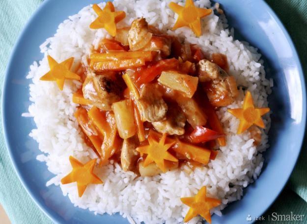 Kurczak w słodko-kwaśnym sosie