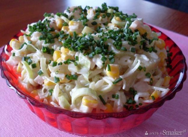 Sałatka z ryżu makaronowego