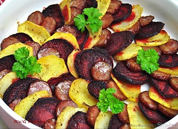 Zapiekanka z buraków i ziemniaków