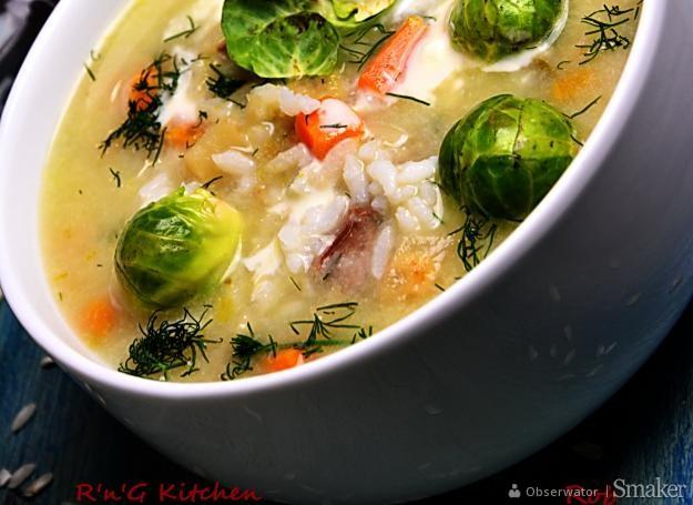 Jesienna zupa z brukselki