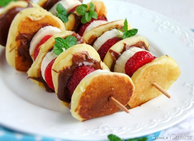 Szaszłyki z pancakes