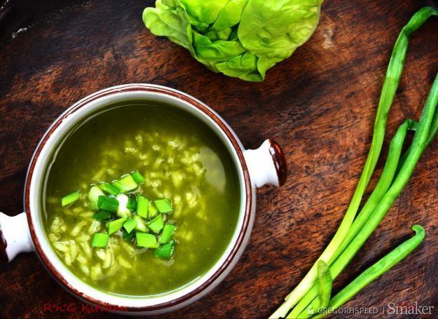 Zielony krem z sałaty masłowej