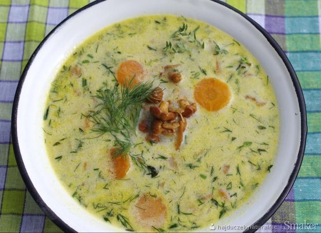 Śląska zupa z kurkami