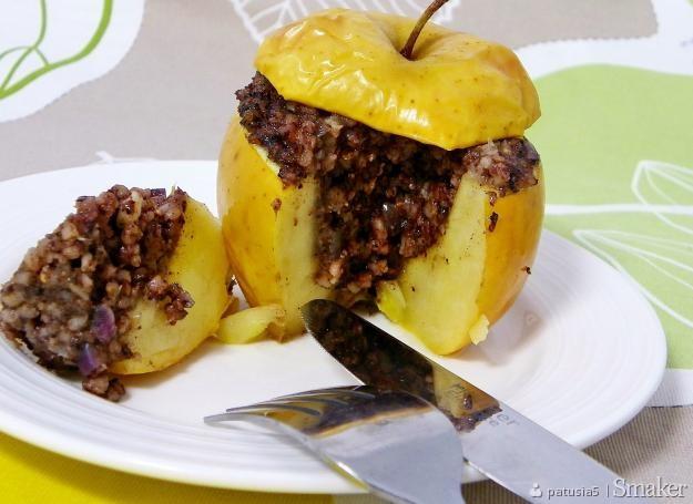 Jabłka faszerowane kaszanką