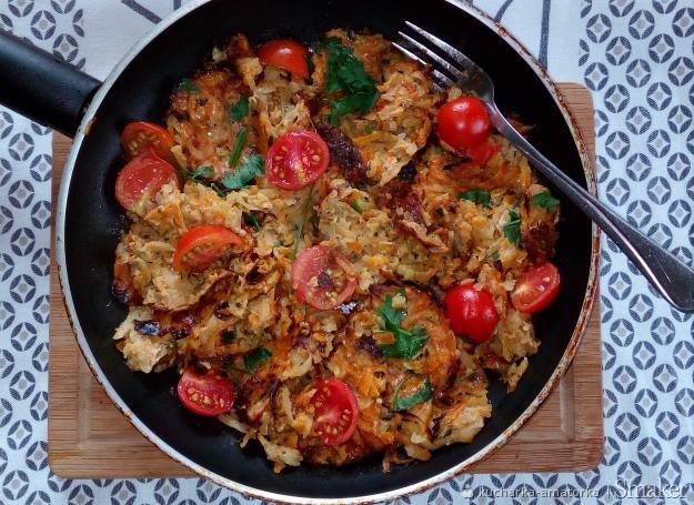 Potrawa z jajek i warzyw