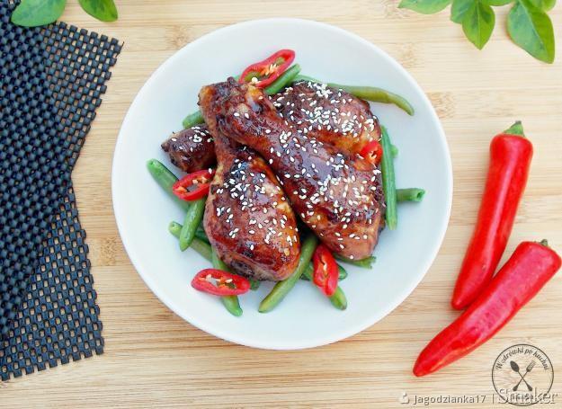Kurczak w słodko-pikantnej glazurze