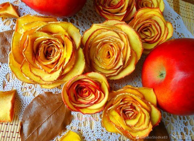 Róże Z Jabłka Dekoracja Na Tort