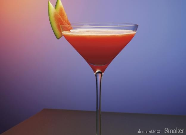 Whisky watermelon tini