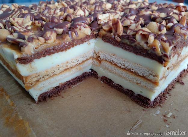 Ciasto Snickers Bez Pieczenia Przepis Ze Smaker Pl