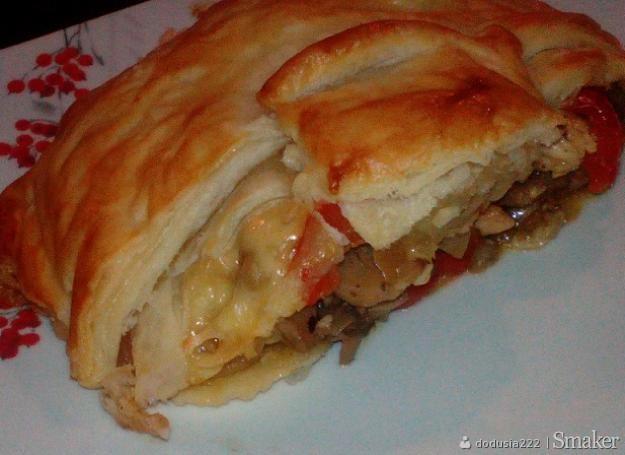 Ciasto Francuskie Z Kurczakiem I Warzywami Przepisy Jak Zrobic