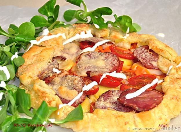 Tarta Na Ciescie Francuskim Z Ziemniakami I Kindziukiem