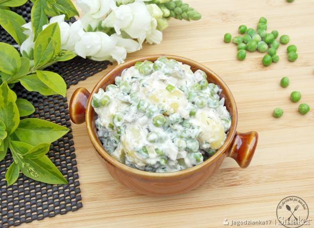 Zielona, grillowa sałatka ziemniaczana
