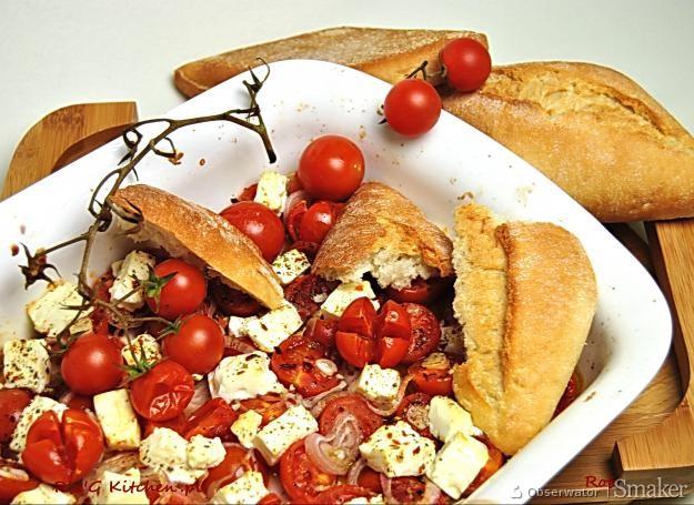 Makaron Kurczak Ser Feta Suszone Pomidory Salata Lodowa Czosnek