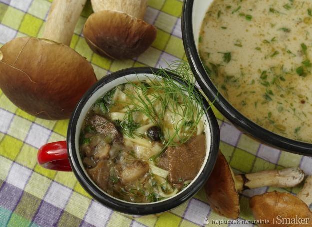 Zupa ze świeżych grzybów