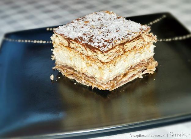 Ciasto herbatnikowe z masą krówkową