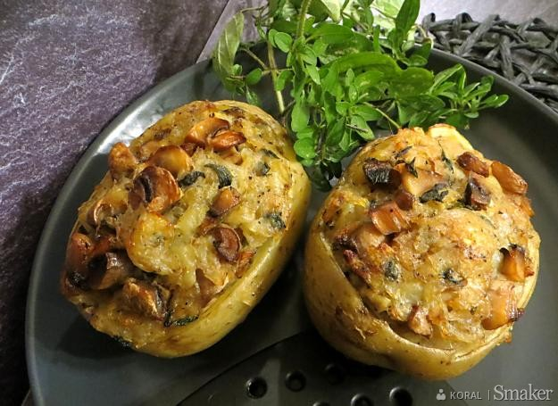 Ziemniaki nadziewane grzybami