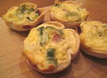 Tostowe mini quiche'e