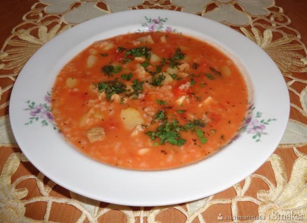 Zupa Pomidorowa Na żeberkach Wersja Z Ryżem I Ziemniakami