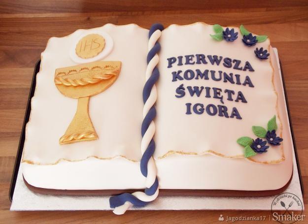 fd395b2fed04a8 tort komunijny otwarta księga: Przepisy, jak zrobić - Smaker.pl
