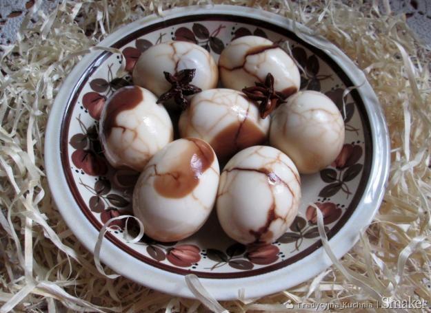 Jajka marmurkowe z anyżem