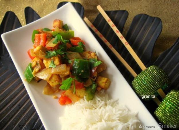 Złote tofu