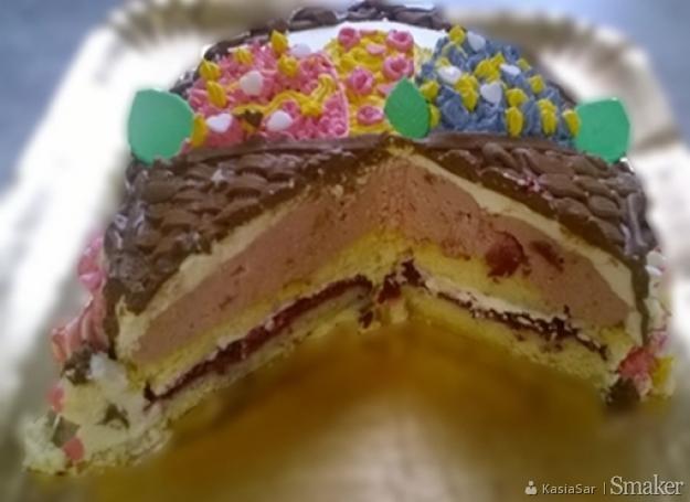 duże cipki kremowe ciasto